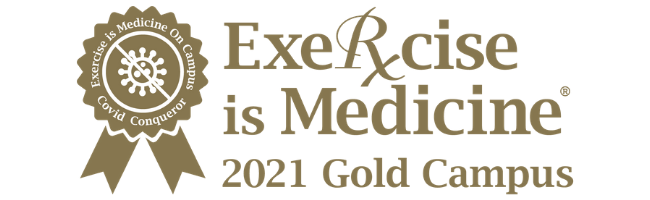 Exercise is medicine 2021 Gold Campus Badge