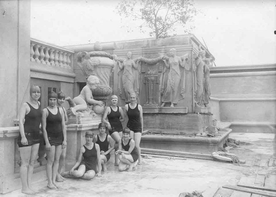 Women's Life Saving class - Hearst North Pool late 1920's