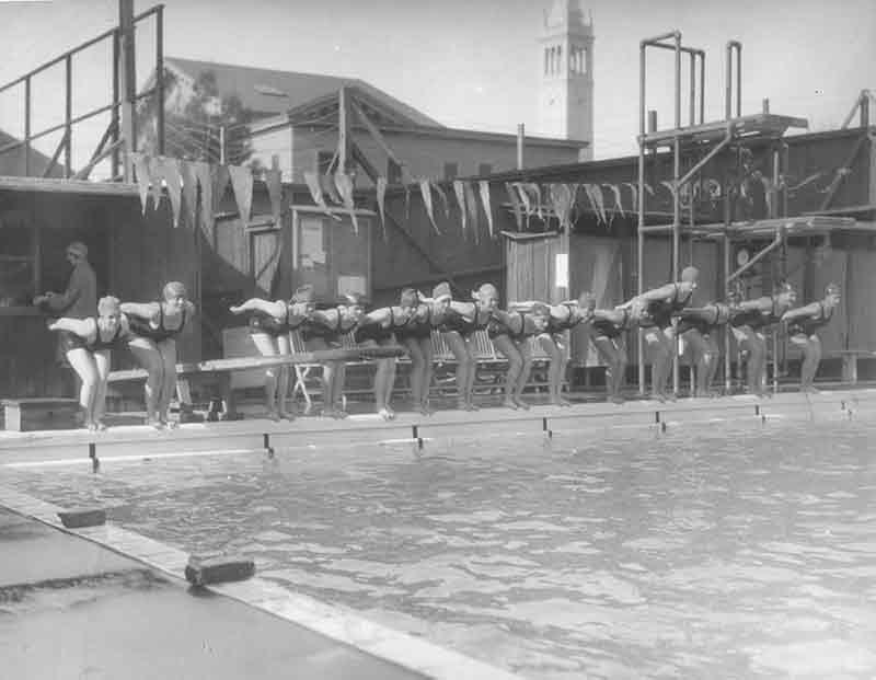 Women's Swimming - Old Hearst Hall Pool 1920's