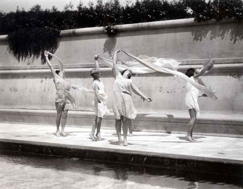 Advanced Dance Class - Hearst North Pool Early 1930's