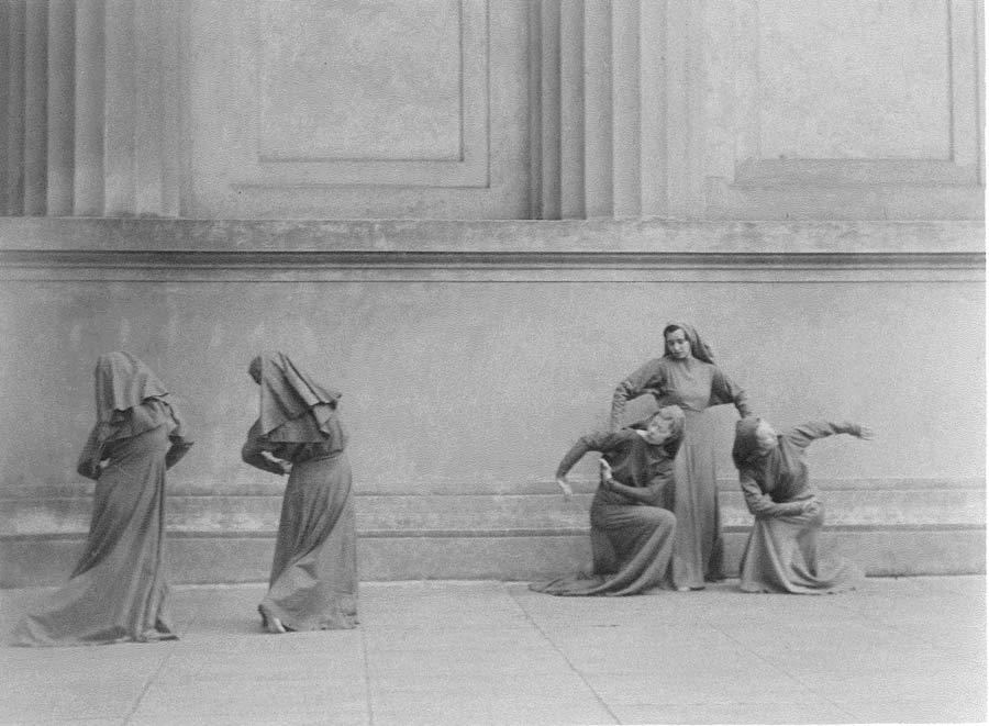 Physical Education Sponsored Orchesis production. Hearst Greek Theater 1930's.