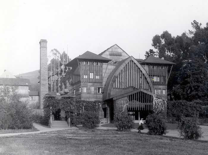 Hall Adjoining Mrs. Phoebe Hearst home before move to campus Early 1900's