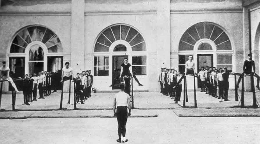 Gymnastics, Balance Beam - Hearst Mining Memorial Building Early 1900's