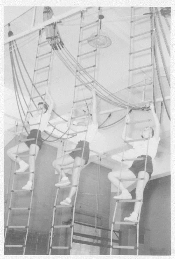 Women's Gymnastics - 220 Hearst Gym 1950's