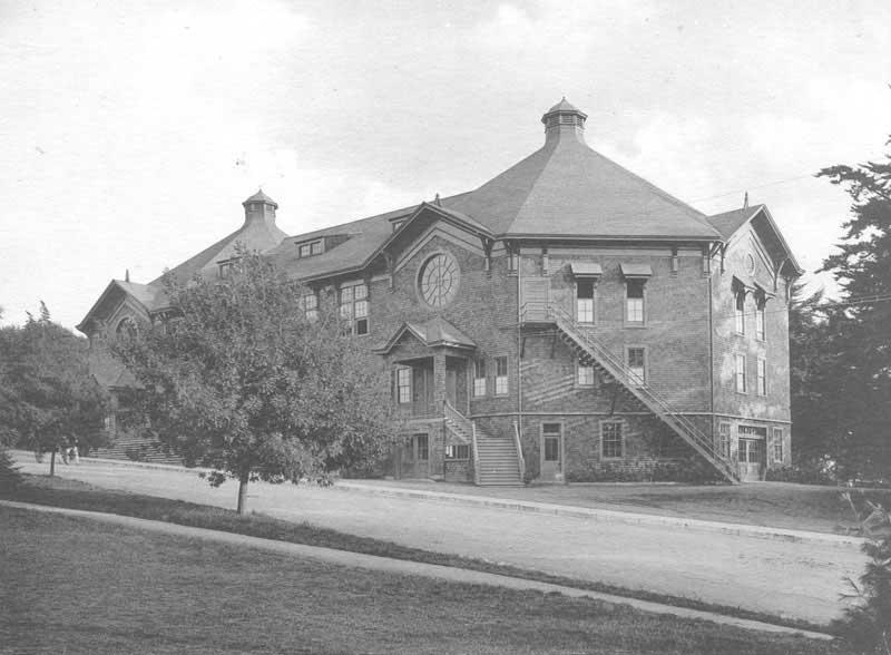 Original Harmon Gymnasium for Men with new wing addition 1902