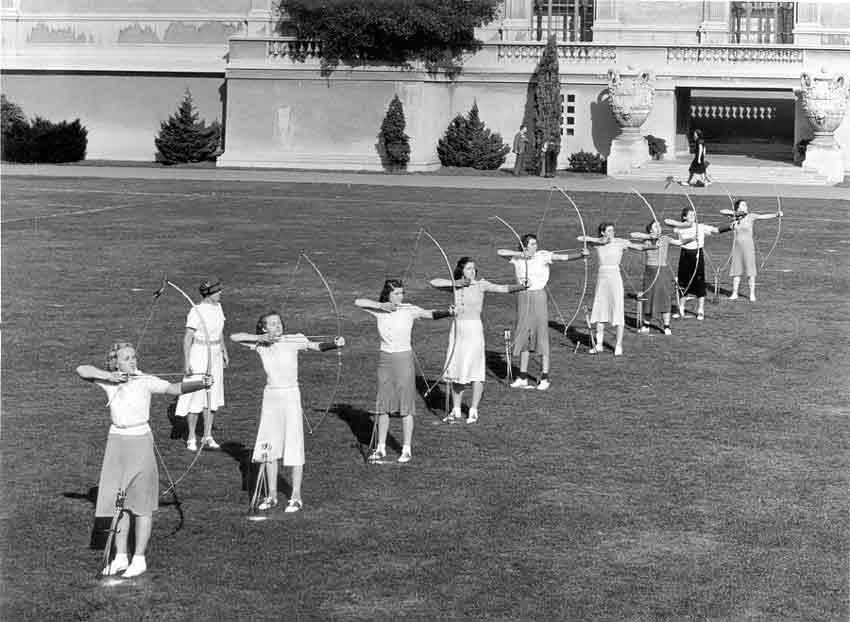 Women's Archery Hearst Gymnasium West Field 1930's