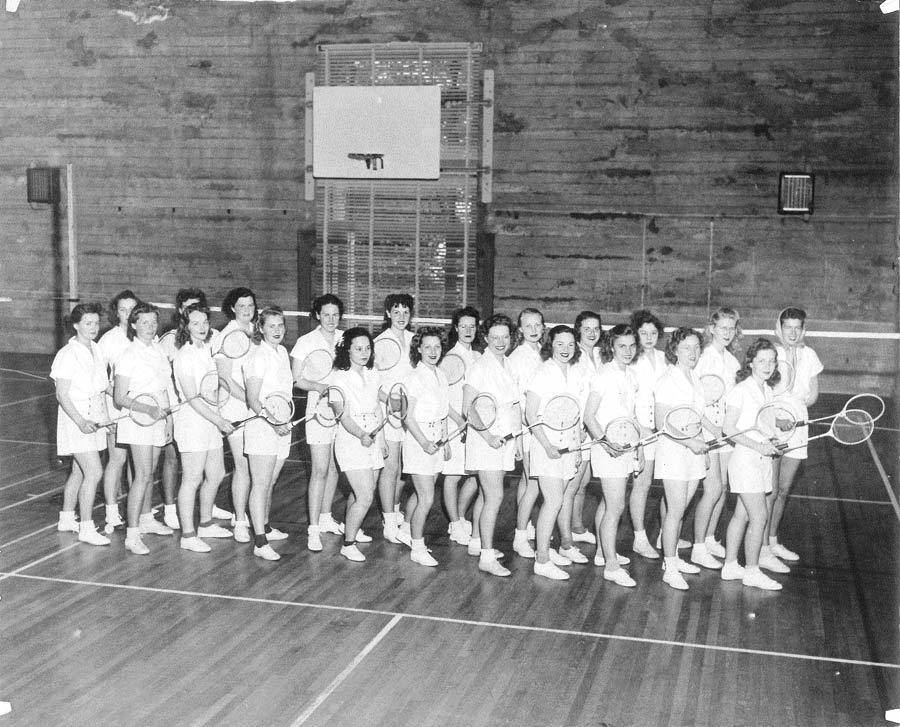 Women's Badmitton Class 1950's