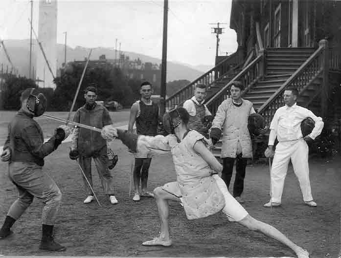 Fencing - Original Harmon Gymnasium 1908