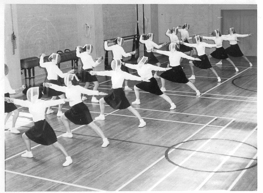 Women's Fencing Class - Hearst Gym 1950's