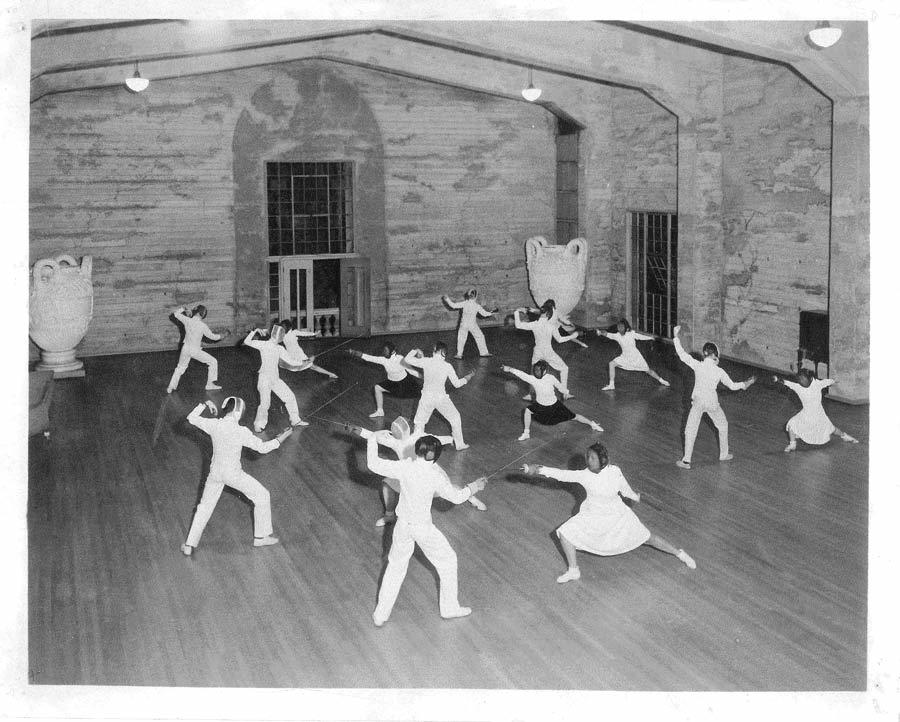 Fencing Class - 1950's