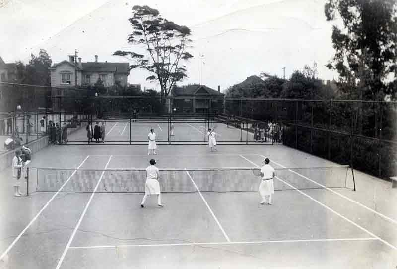 Tennis Class - Hearst Courts early 1930's